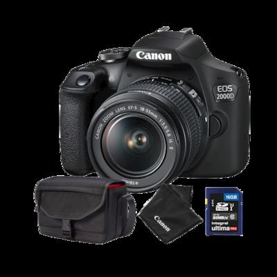 Canon EOS 2000D + 18-55mm IS II + torba SB130 + karta 16GB
